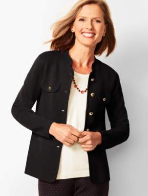 Talbots Stand Collar Sweater Jacket