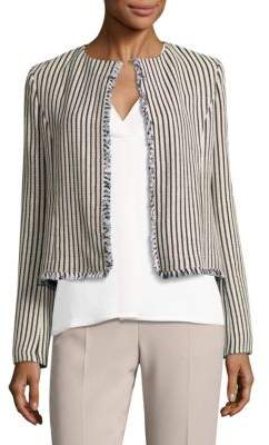 HUGO BOSS Komina Open Front Striped Jacket