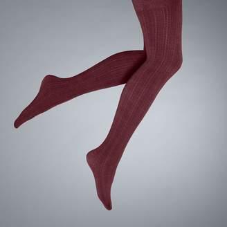 Vera Wang Simply Vera Cable-Knit Fleece-Lined Tights