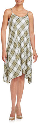 Kensie Plaid Asymmetrical Dress $89 thestylecure.com