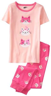 Crazy 8 Sparkle Cats 2-Piece Pajama Set