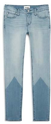 Hudson Girls' Laser Color-Block Skinny Jeans - Little Kid