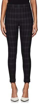 Alexander Wang Women's Plaid Skinny Cotton Twill Pants