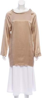 Nili Lotan Satin Long Sleeve Tunic