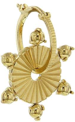 Foundrae Large All Gold Earring Disk - Yellow Gold