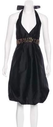 Nicole Miller Silk Embellished Dress w/ Tags
