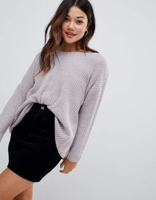 Brave Soul chenille sweater with v neck