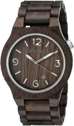 WeWood Men's Alpha ALPHA- Brown Wood Analog Quartz Watch with Brown Dial