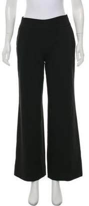 Dolce & Gabbana Virgin Wool-Blend Wide-Leg Pants