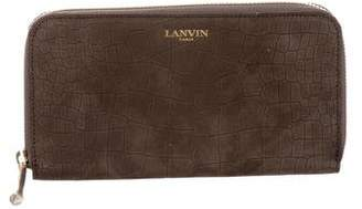 Lanvin Embossed Leather Wallet