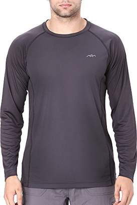 Co Trailside Supply Men's Quick-Dry Active Sport Long Sleeve Compression Baselayer T-Shirt (
