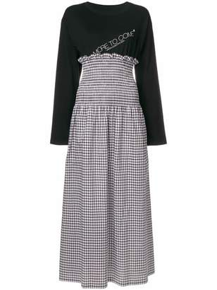 MM6 MAISON MARGIELA layered look maxi dress