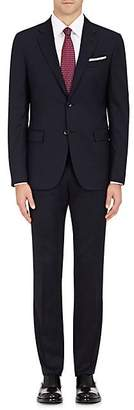 Barneys New York MEN'S WOOL TWO-BUTTON SUIT - NAVY SIZE 42 L