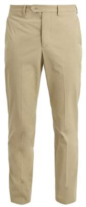 Officine Generale Slim Leg Cotton Twill Trousers - Mens - Beige