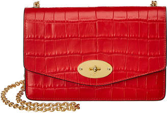 Mulberry Small Darley Croc-Embossed Leather Crossbody