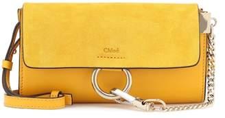 Chloé Faye Mini leather wallet bag