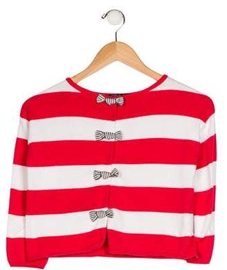 Lili Gaufrette Girls' Knit Striped Cardigan