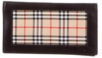 Burberry House Check-Trimmed Bifold Wallet
