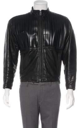 Gianni Versace Leather Zip Jacket