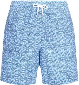 Derek Rose Mosaic Print Swim Shorts