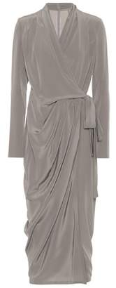 Rick Owens Silk wrap dress