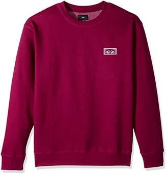 Obey Men's Eyes Crew Neck Fleece Sweatshirt