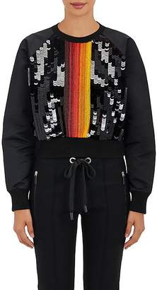 NO KA 'OI No Ka'Oi Women's Nalu Embellished Tech-Satin Pullover