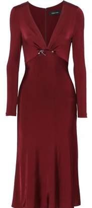 Cushnie Cutout Embellished Satin-jersey Midi Dress