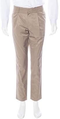 Robert Geller Satin Pleated Pants