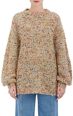 Chloé Women's Yarn-Embellished Knit Oversized Sweater