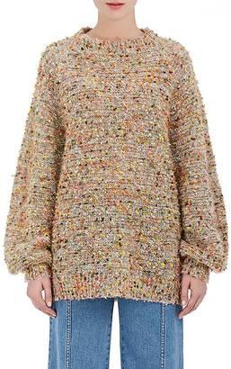 Chloé Women's Yarn-Embellished Knit Oversized Sweater $1,095 thestylecure.com