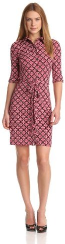 Laundry by Shelli Segal Women's Button Front Dress with Polo Collar
