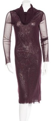 c Mesh Long Sleeve Dress $95 thestylecure.com