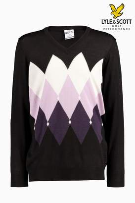 Next Mens Lyle & Scott Golf Morham Jumper