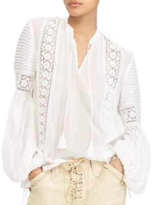 Polo Ralph Lauren Crinkled Silk Blouse