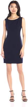 Jessica Simpson Women's Sleevless Ity Dress with Front Drape