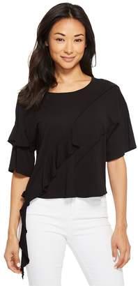 Lanston Oversized Ruffle Tee Women's T Shirt