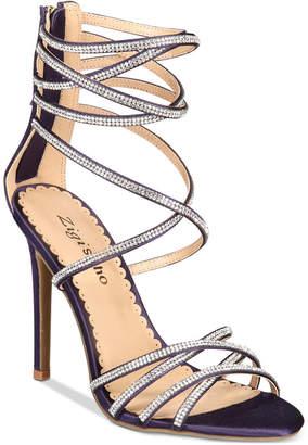 Zigi Bernadette Strappy Embellished Dress Sandals Women Shoes