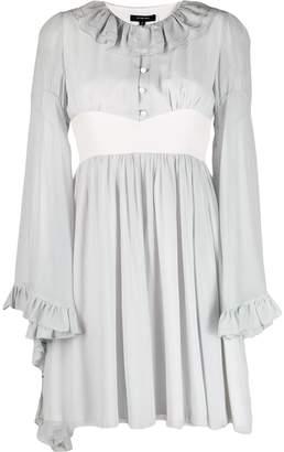 Unconditional distressed silk midi dress