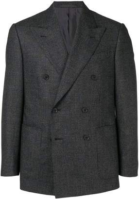 Caruso double-breasted fitted blazer