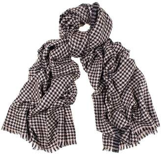 Black Houndstooth Cashmere Shawl