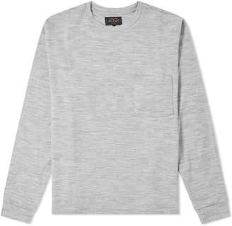 Beams Long Sleeve Wool Pocket Tee