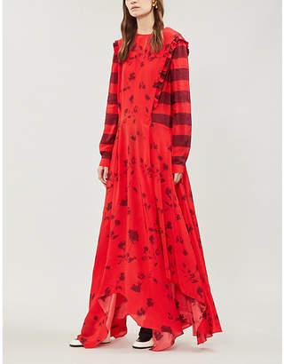 Preen Line Hebe crepe de chine dress