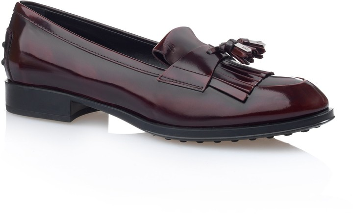 Tod's Leather Penny Loafers With Tassels