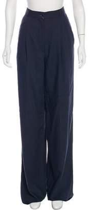 Trussardi Wool High-Rise Pants