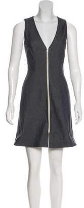 L'Agence Sleeveless Denim Dress