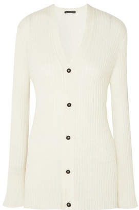 Ann Demeulemeester Ribbed-knit Cardigan - Cream
