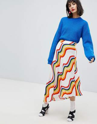 House of Holland Asymmetric Rainbow Skirt