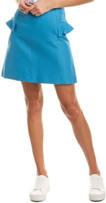 Sandro Ruffle Trim Skirt
