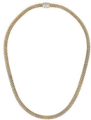 John Hardy 18K Pavé Diamond Classic Chain Necklace $5,195 thestylecure.com